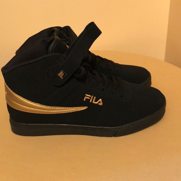 Fila Shoes | Fila Mens Black Suede Lace